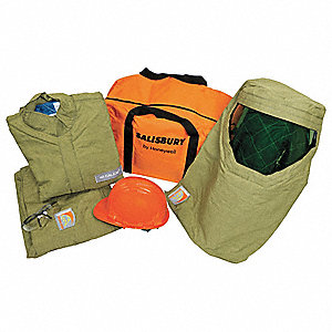 Green M Arc Flash Protection Clothing Kit, 40 cal./cm2 ATPV Rating, 4 Hazard Risk Category (HRC)
