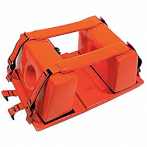 Head Immobilizer Block,9-3/4 in. L,Org