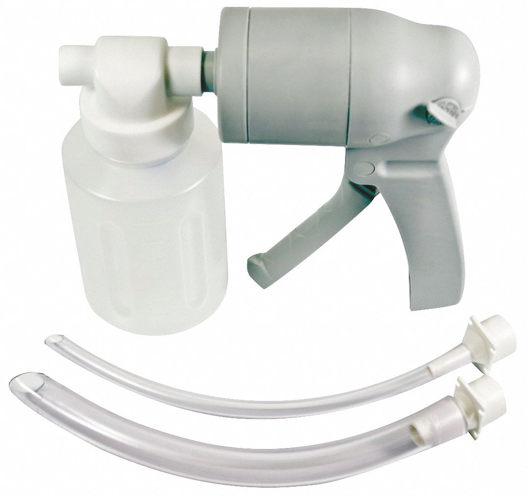 Manual Suction Pump,  Plastic/PVC,  White,  Disposable Yes