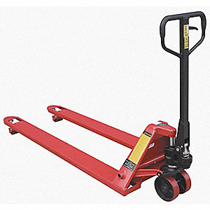 "Standard General Purpose Manual Pallet Jack, 4400 lb. Load Capacity, Fork Size: 6-1/4""W x 70""L, Red"