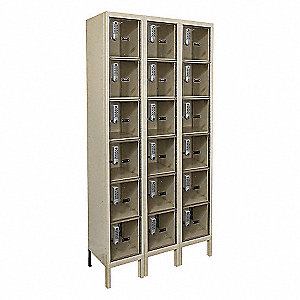 Box Lockr,Clrview,3 Wide, 6 Tier,Prchmn