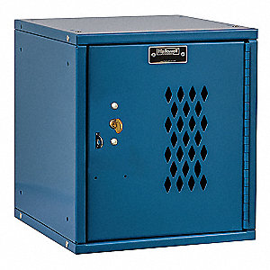 "Blue Box Locker, (1) Wide, (1) Tier , Openings: 1, 11-5/16"" W X 12"" D X 12-11/16"" H"