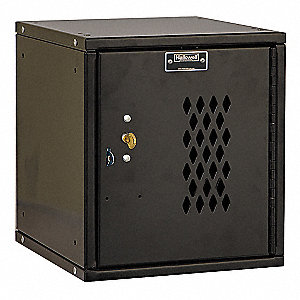 "Black Box Locker, (1) Wide, (1) Tier , Openings: 1, 11-5/16"" W X 12"" D X 12-11/16"" H"