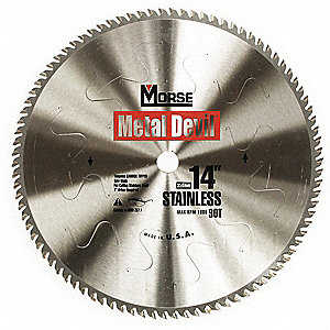 "14"" Carbide Stainless Steel Cutting Circular Saw Blade, Number of Teeth: 90"