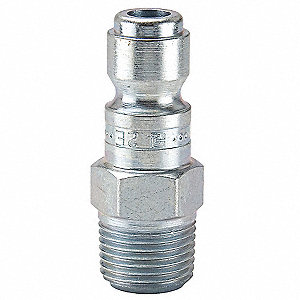 Coupler Plug,Steel,1/2 In. Pipe,110 cfm