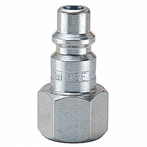 Coupler Plug,Steel,FNPT,3/8 In. Pipe