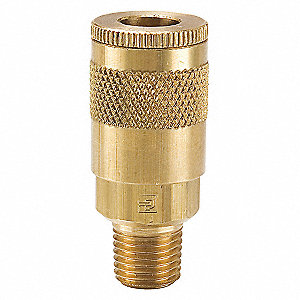 Coupler Body,Brass,MNPT,3/8 In. Pipe