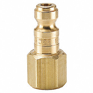 Coupler Plug,Brass,FNPT,1/4 In. Pipe
