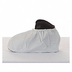 "Shoe Covers, Slip Resistant: Yes, Waterproof: No, 10"" Height, Size: Standard, 400 PK"