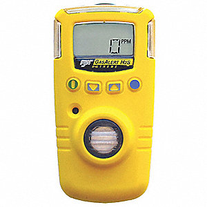 Single Gas Detector,H2S,0-100 ppm,BR,Ylw