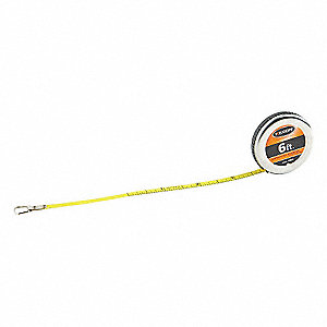 6 ft. Steel Diameter Tape Measure, Yellow