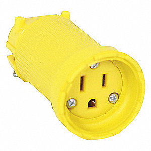 CONNECTOR 2P 3W GROUNDED NEMA 5-15C