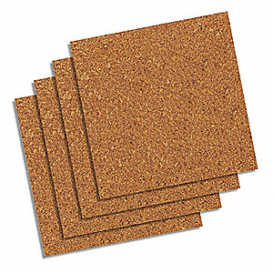 Bulletin Board Tiles,Natural,PK4