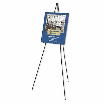 30P055 - Portable Folding Easel 63 in. Black