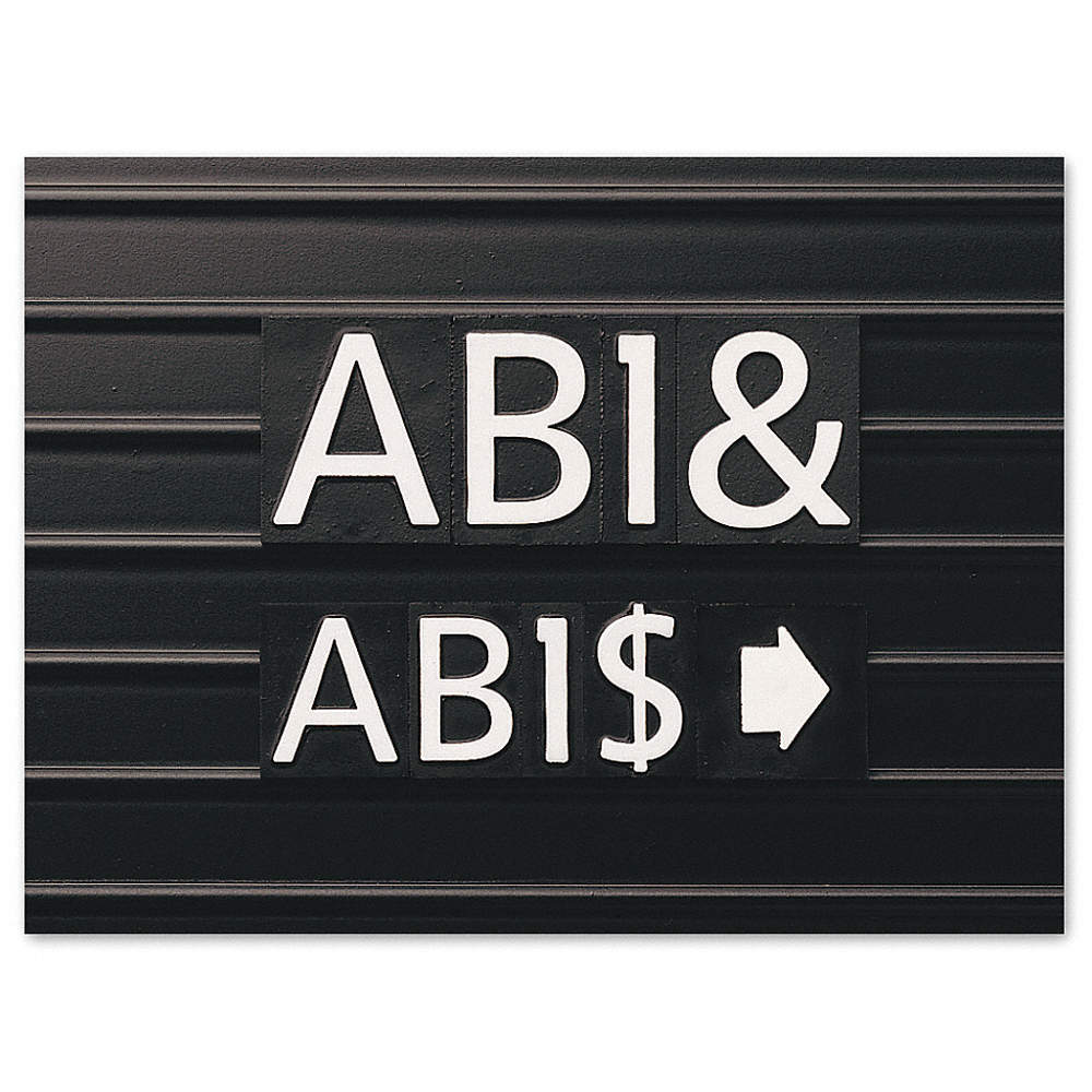 A-Z, 0-9, Dollar Sign, Ampersand and Punctuation, A Thru Z, 0 Thru 9, $, &  and Punctuation, White