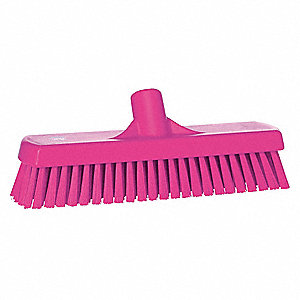 "12""L Polyester Replacement Brush Head Deck Brush, Pink"