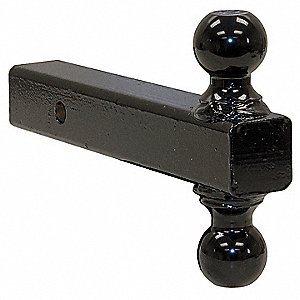 Double Hitch Ball, Black Powder Coat