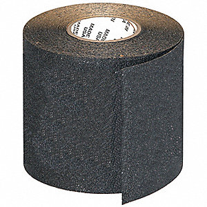 "Solid Black Anti-Slip Tape, 6"" x 60.0 ft., 46 Grit Oxide Adhesive, 1 EA"