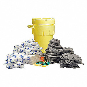 Spill Kit/Station, Drum, Universal, 75 gal.