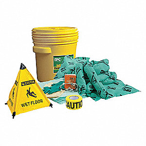 Spill Kit/Station, Drum, Chemical, Hazmat, 15 gal.