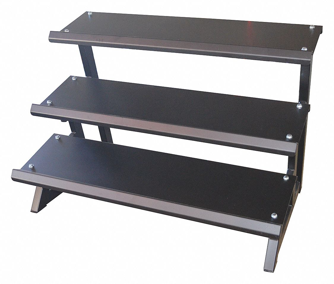 Tier Dumbbell Rack,  59 in Length,  42 3/8 in Height