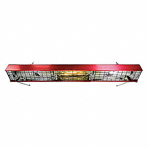 Shop Heater and Light, Indoor, Ceiling, Voltage 120, Watts 742