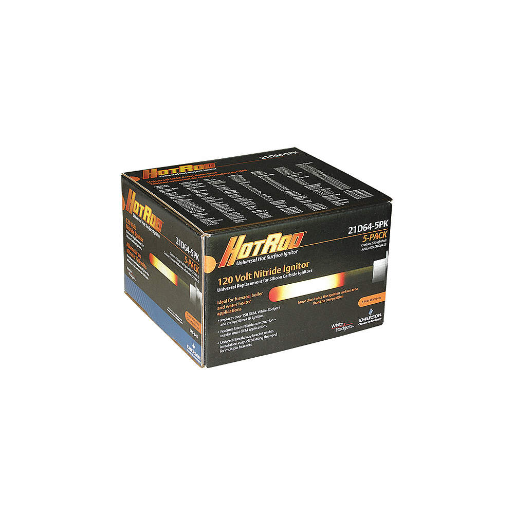 Hot Surface igniter, 15-1/2InL, 120V, PK5