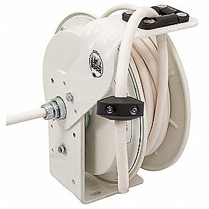 Retractable Cord Reel,50 ft.,Wht,120VAC
