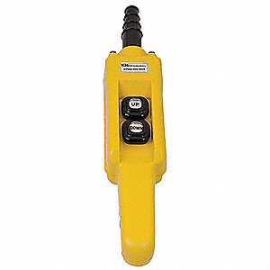 2-Button Up/Down Pendant Push Button Station, 1NO, NEMA Rating 4X, Yellow
