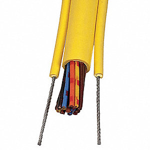 25 ft. Pendant Cable&#x3b; Conductors: 12, Wire Size: 16 AWG, Jacket Color: Yellow