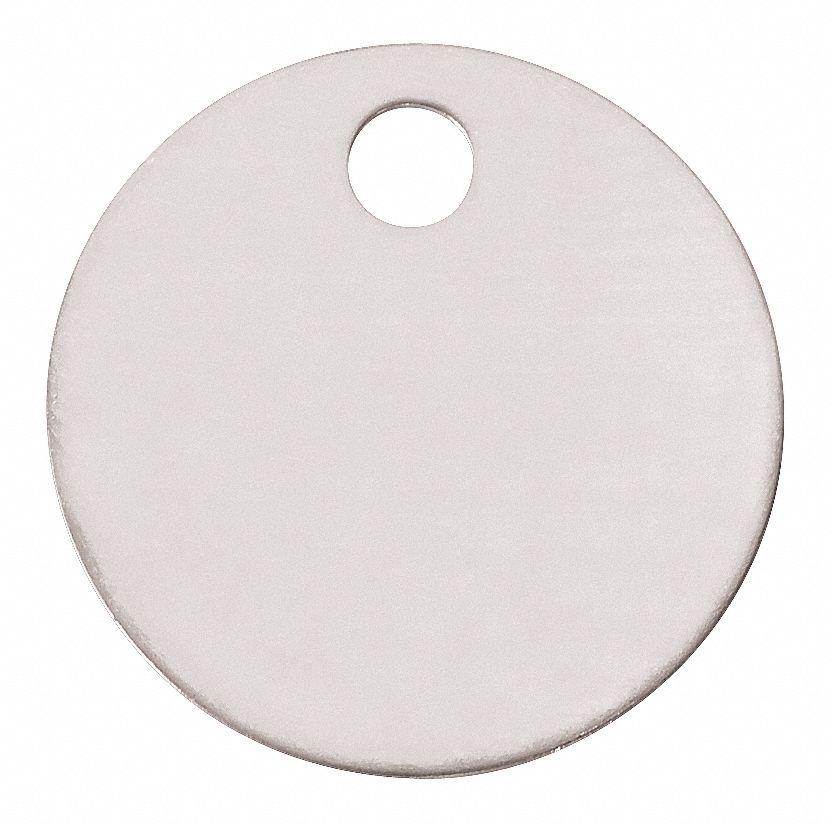 "Blank Metal Tags 1-1//2/"" Round Brass Model 1098B 100 Tags"