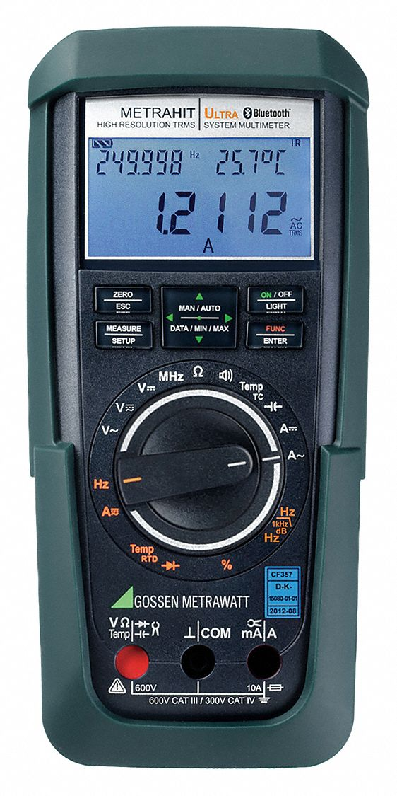 GOSSEN METRAWATT (R) METRA HIT ULTRA BT Series,  Full Size - Basic Features,  Digital Multimeter