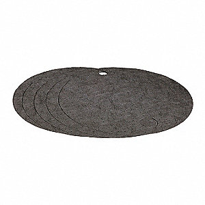 Drum Top Absorb Pad,Universal,Gray,PK5