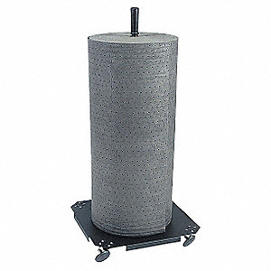Vertical Mat Roll Holder,Black,Steel