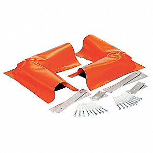 "7-1/4"" x 5-1/2"" x 2"" 40 oz. PVC, Polyethylene, Aluminum, Galvanized Steel Spill Containment Berm, Or"
