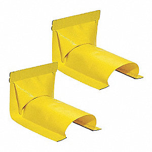 "Spill Berm Wall End, Yellow, 3"" x 5-1/2"" x 2"""