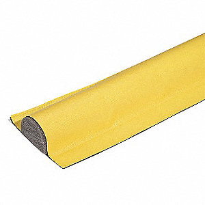 "15 ft. x 4-1/2"" x 1-1/2"" 18 oz. Vinyl-Coated, Polyurethane Spill Containment Berm, Yellow"