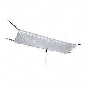 "Roof Diverter, 5 ft. x 1 ft. 4"", Straps, Translucent, Polyester, PVC"
