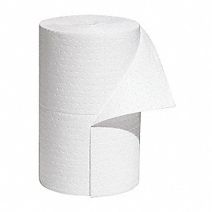 150 ft. Absorbent Roll, Fluids Absorbed: Oil-Based Liquids, Heavy, 32.4 gal., 1 EA