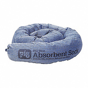 Absorbent Sock,Blue,9 gal.,PK12