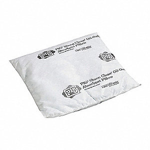 "Absorbent Pillow, Oil-Based Liquids, 10 gal., 16"" x 17"", Cellulose"