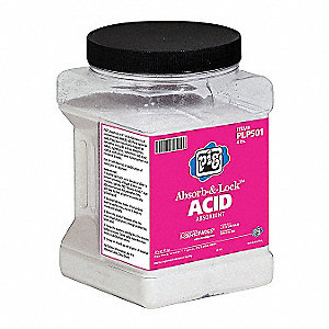 Blend of Co-Polymers Solidifer, Container Size: 4 lb., Fluids Absorbed: Chemical, Hazmat
