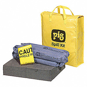 Spill Kit/Station, Bag, Universal, 9 gal.