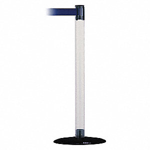Barrier Post with Belt,13 ft. L,Blue