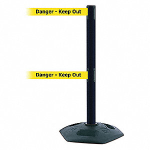 Barrier Post with Belt,Heavy Duty Rubber