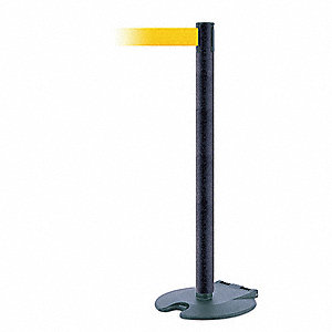 Barrier Post w/ Belt,Wheeled,7-1/2 ft. L