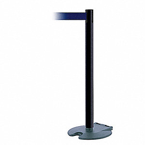 Barrier Post with Belt,Wheeled,13 ft. L