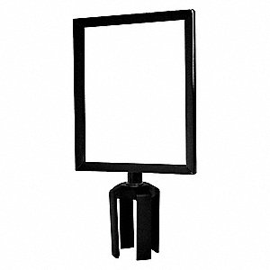 Sign Frame,  11 x 8-1/2 In,  Black