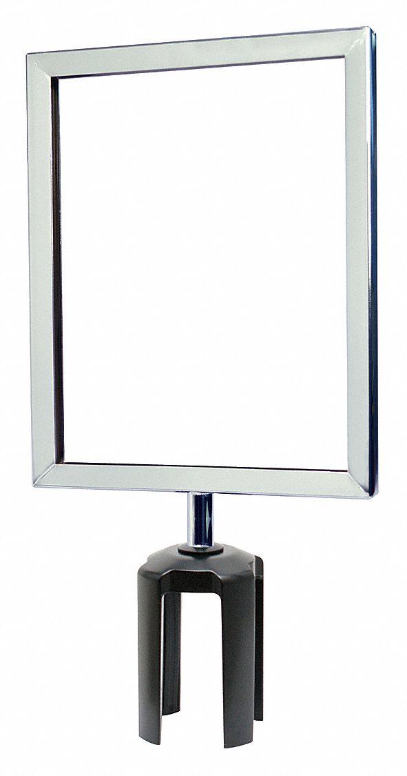 7 x 11 7 x 11 Tensator Lawrence metal FRAME-NOSC-1S-0711LD-V Light Duty Vertical Frame Satin Chrome