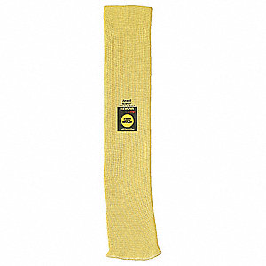 "Kevlar® Sleeve, 18""L, Knitted Cuff, Yellow"